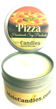 Load image into Gallery viewer, Pizza 4 Ounce All Natural handmade Novelty Tin Soy Candle