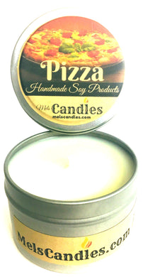 Pizza 4 Ounce All Natural handmade Novelty Tin Soy Candle