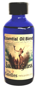 Sweet Grass 4 ounce Glass Bottle of Essential Oil Blend Fragrance Perfume Oil