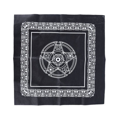 Pentacle Altar Cloth, Tarot Game Tablecloth