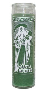 Santa Muerte (Holy Death) Green 7 Day Spiritual Candle