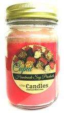 Load image into Gallery viewer, Cupid 16 Ounce Country Jar Handmade Soy Candle