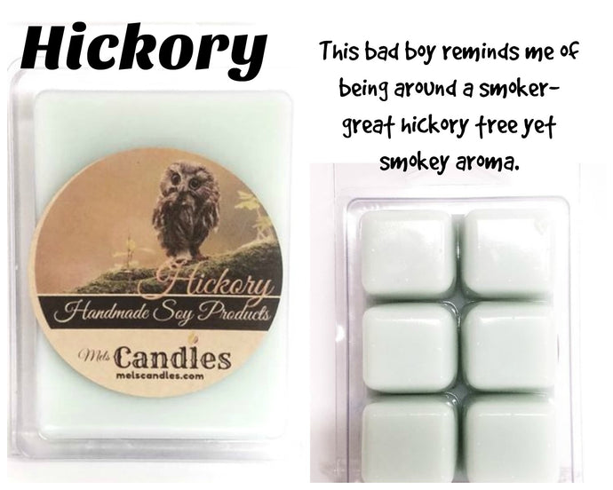 Hickory  3.4 Ounce Pack of Soy Wax Tarts - Mels Melts.