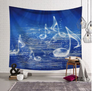 Music Notes Tapestry, Wall Hanging, Home Decor