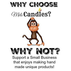 COMBO Monkey Farts and Caribbean Coconut - Set of Two 16oz Country Jar All Natural Hand Made Soy Candles - mels-candles-more