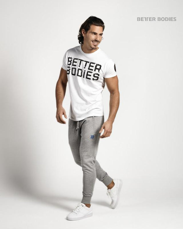 Better Bodies Basic Logo Tee - White