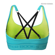 50% OFF Better Bodies Athlete Short Top - Aqua Blue CLEARANCE - FINAL SALE