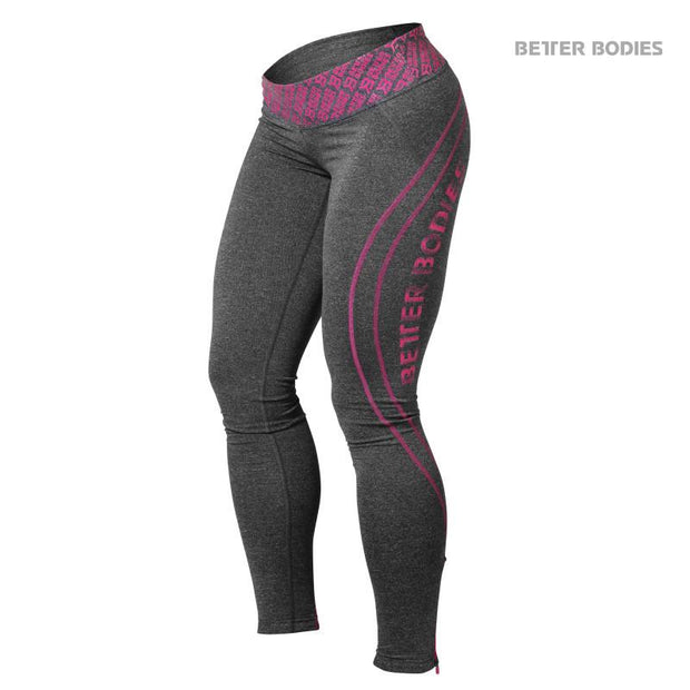 50% OFF Better Bodies Shaped Logo Tights - Pink - CLEARANCE - FINAL SALE