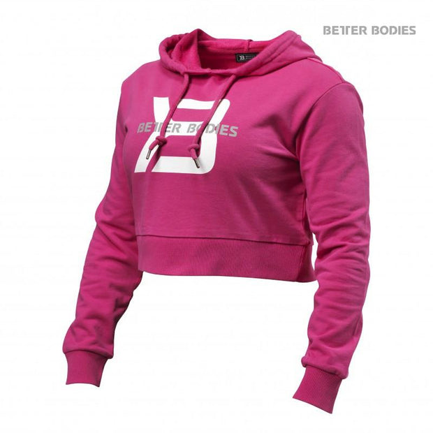 50% OFF Better Bodies Cropped Hoodie - Hot Pink - CLEARANCE FINAL SALE