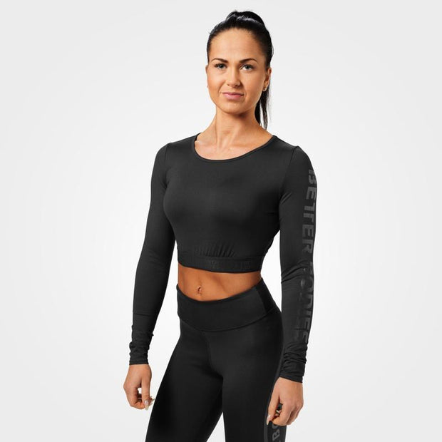 Better Bodies Chelsea Cropped Long Sleeve - Black
