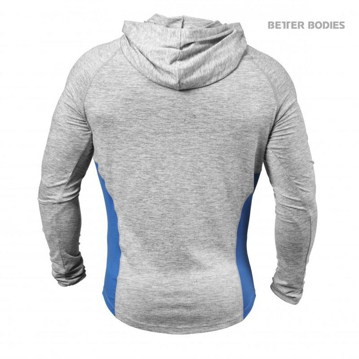 25% OFF - Better Bodies Performance Mid Hood - Grey Melange - FINAL SALE