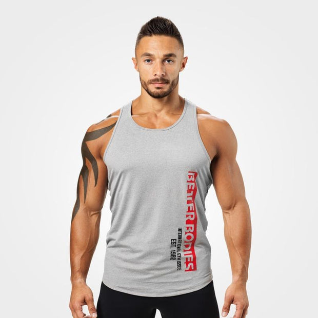 Better Bodies Performance T-Back - Grey Melange