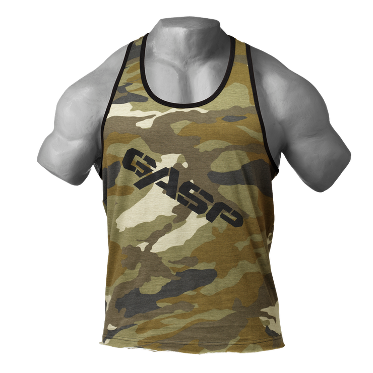 GASP Vintage T-Back - Green Camo