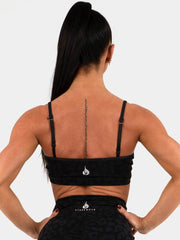 Ryderwear Animal Sports Bra - Leopard Black