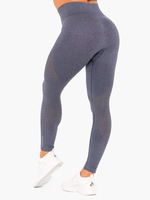 Ryderwear Geo Seamless High Waisted Leggings - Navy