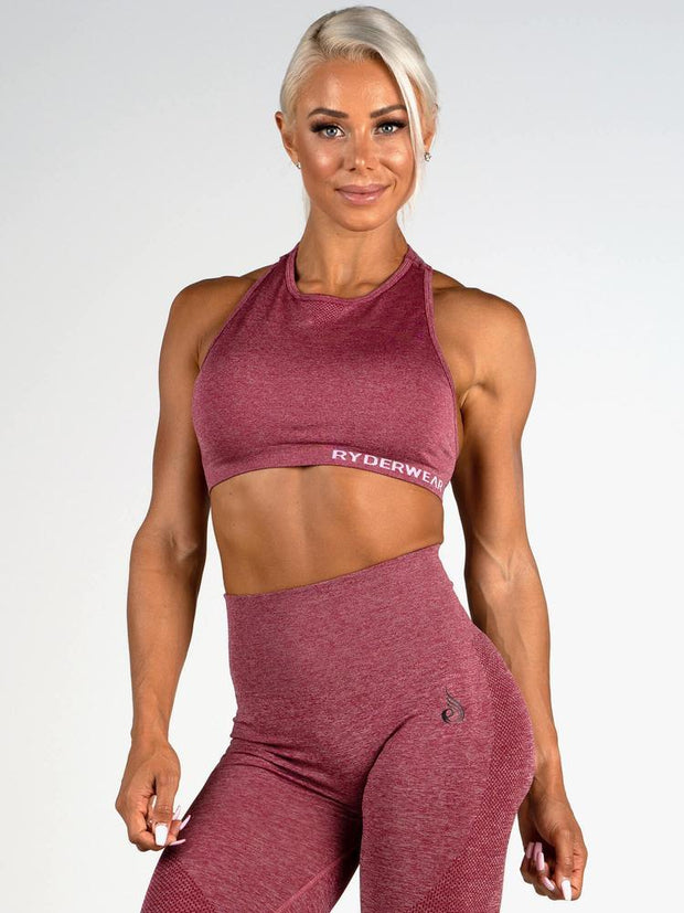 Ryderwear Seamless Sports Bra - Wine