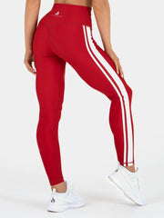 Ryderwear Stride High Waisted Leggings - Red