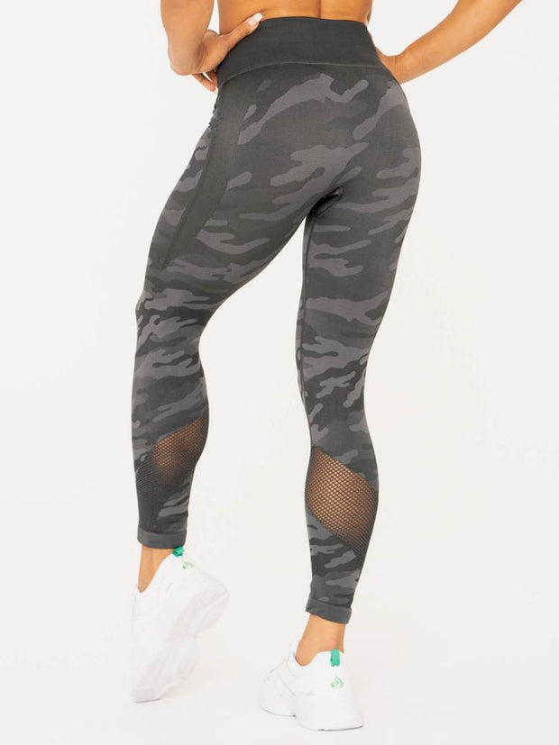 Ryderwear Camo Seamless High Waisted Leggings - Charcoal Camo