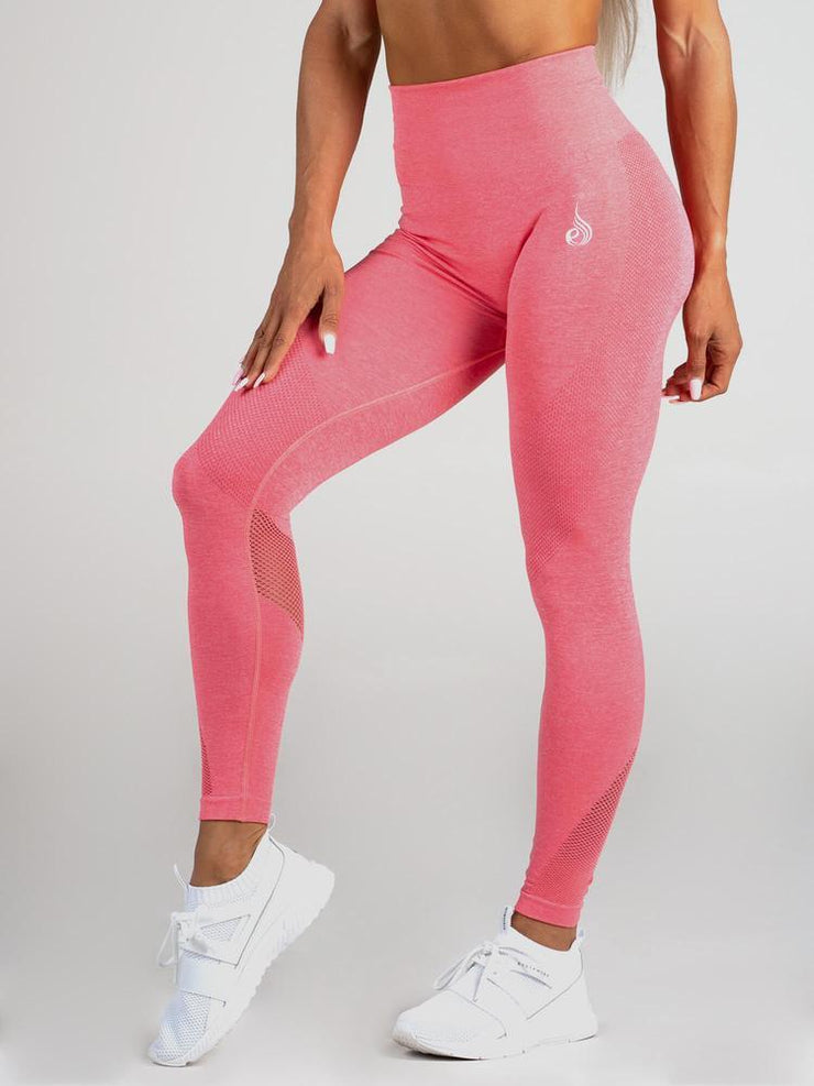 Ryderwear Seamless Tights - Coral Marl