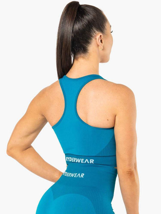Ryderwear Electra Seamless Crop - Electric Blue