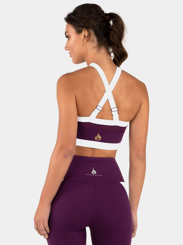 Ryderwear Empire Mesh Sports Bra - Purple