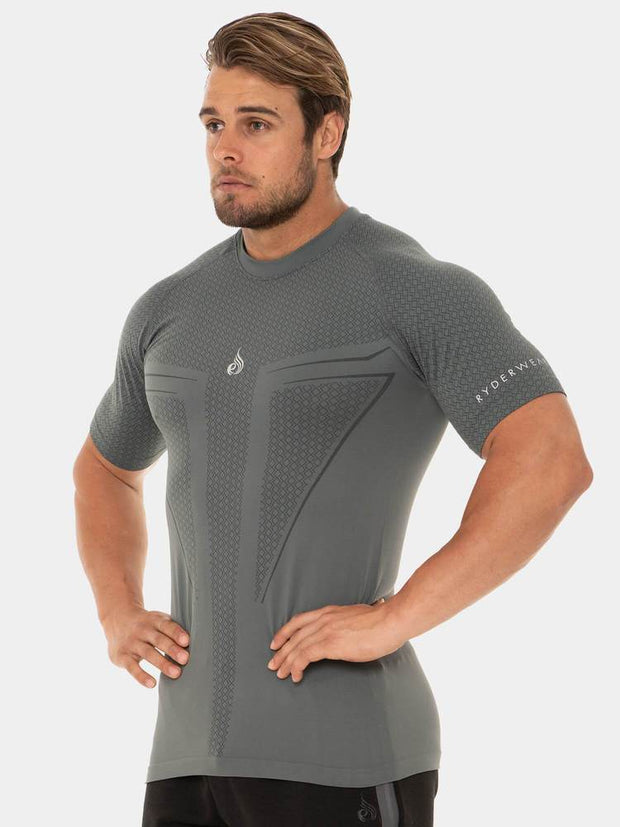 Ryderwear Geo Seamless T-Shirt - Steel