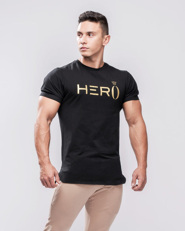 HERA x HERO Primo T-Shirt - Black & Gold