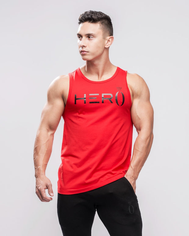 HERA x HERO Primo Tank Top - Red & Black