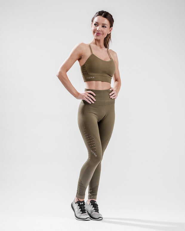 HERA x HERO XO Seamless Sports Bra - Olive