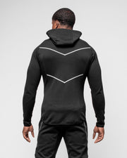 HERA x HERO Zip-Up Arrow Hoodie - Black & White