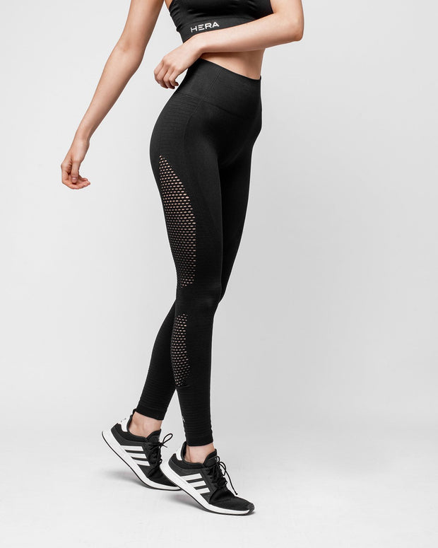 HERA x HERO Le Papillon Seamless Leggings - Black