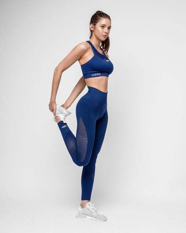 HERA x HERO Le Papillon Seamless Leggings - Navy