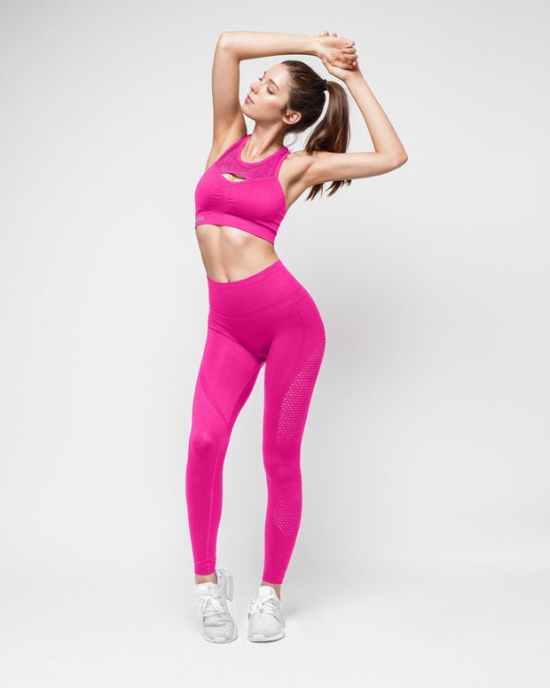 HERA x HERO Le Papillon Seamless Leggings - Rose Pink