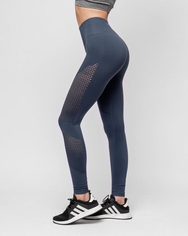 HERA x HERO Le Papillon Seamless Leggings - Steel Grey