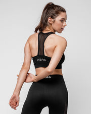 HERA x HERO Le Papillon Seamless Sports Bra - Black