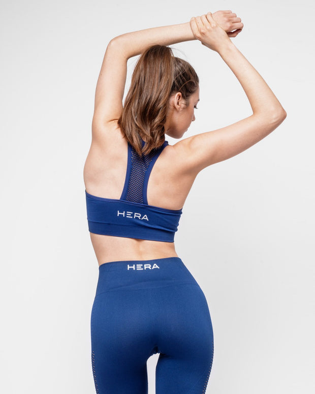 HERA x HERO Le Papillon Seamless Sports Bra - Navy
