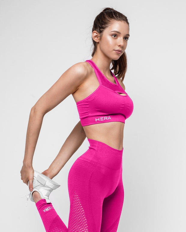 HERA x HERO Le Papillon Seamless Sports Bra - Rose Pink