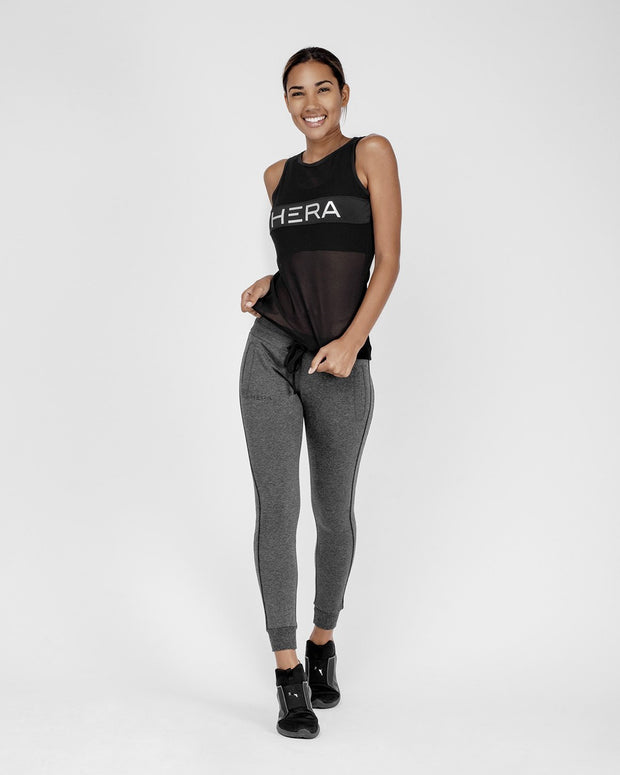 HERA x HERO Maia Mesh Tank Top - Black
