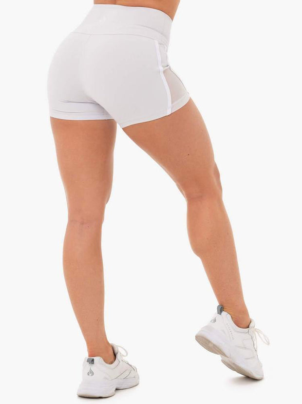 Ryderwear Collide High Waisted Booty Shorts - Pebble Grey