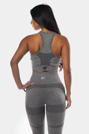 Jed North Supple Seamless Sports Bra - Grey