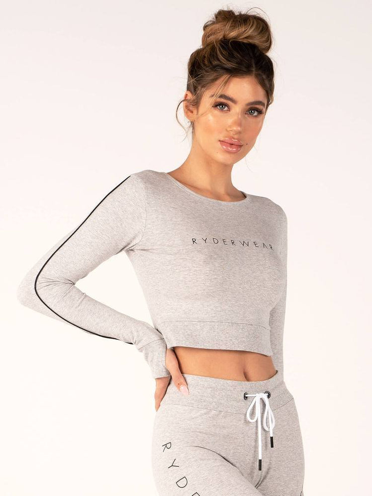 Ryderwear BSX Cropped Sweater - Grey Marle