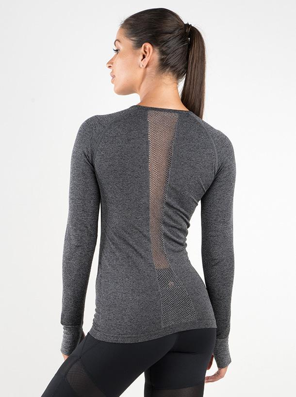 Ryderwear Seamless Long Sleeve - Charcoal Marle