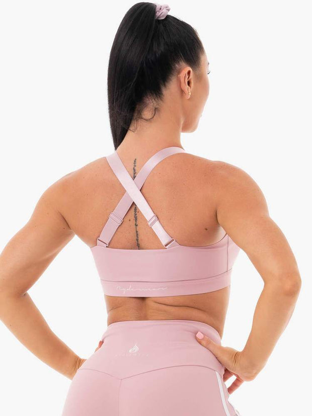 Ryderwear Collide Mesh Contour Sports Bra - Dusty Pink