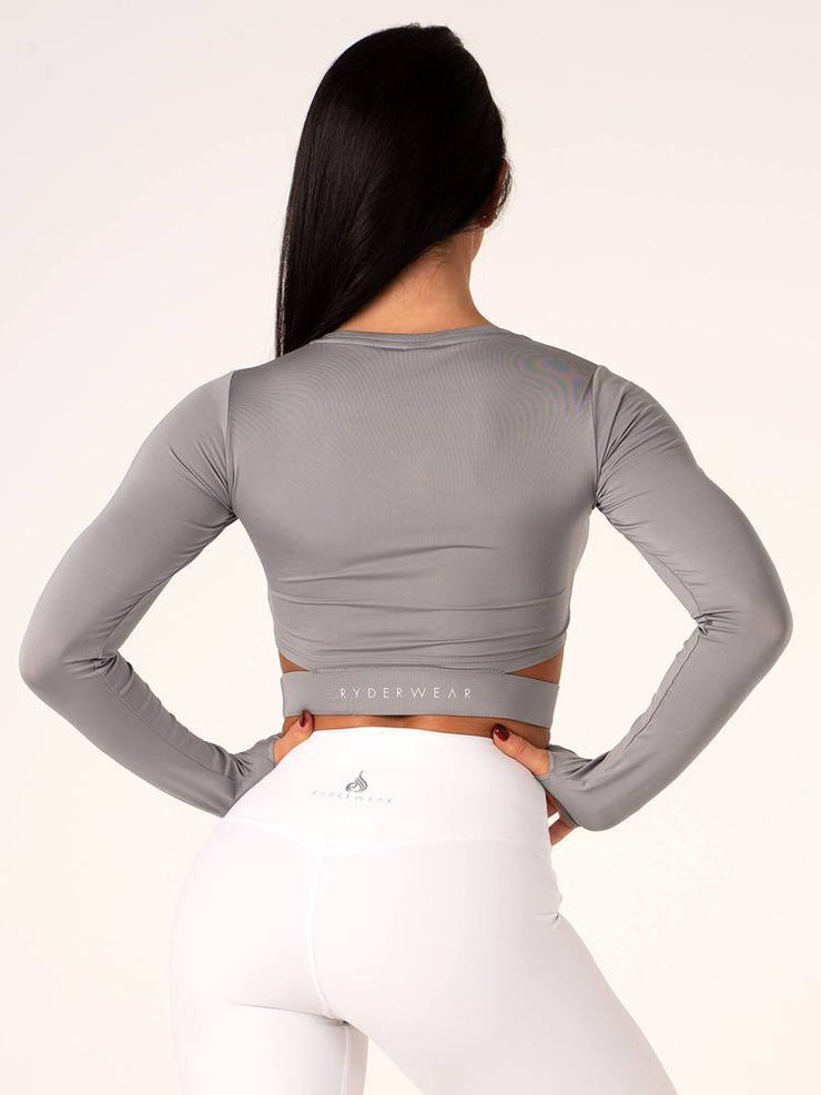 Ryderwear California Long Sleeve Crop - Grey
