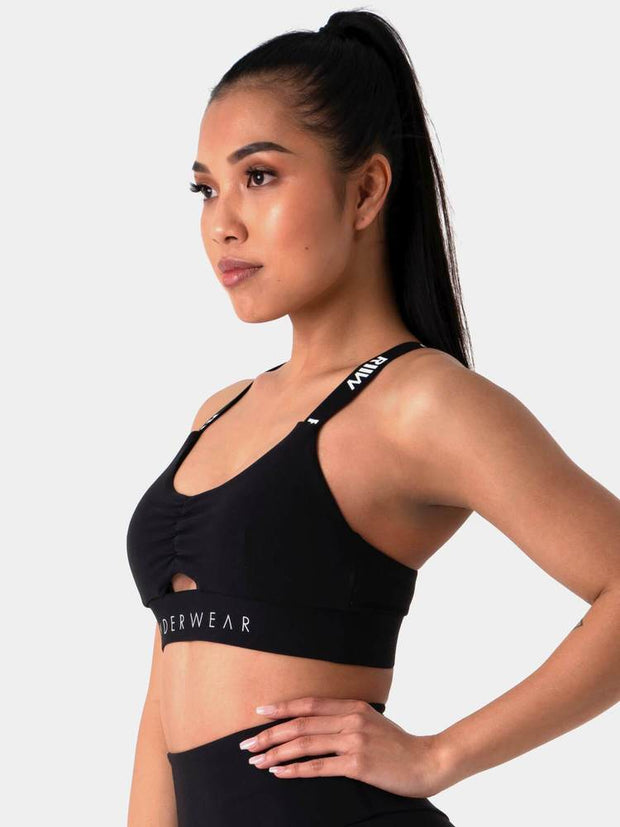 Ryderwear Pastels Scrunch Sports Bra - Black