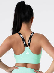 Ryderwear Pastels Scrunch Sports Bra - Mint