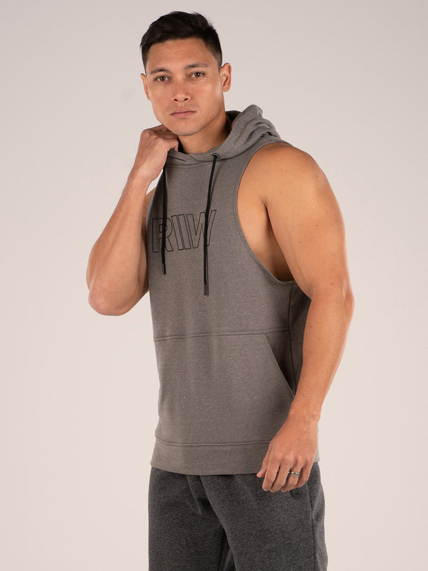 Ryderwear Royal Sleeveless Hoodie - Charcoal