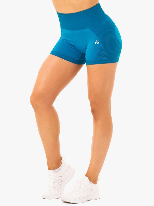 Ryderwear Electra Seamless Shorts - Electric Blue
