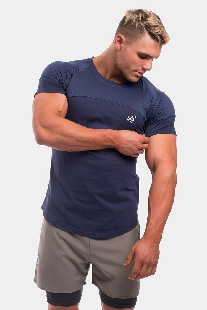 Jed North Core Mesh T-Shirt - Navy