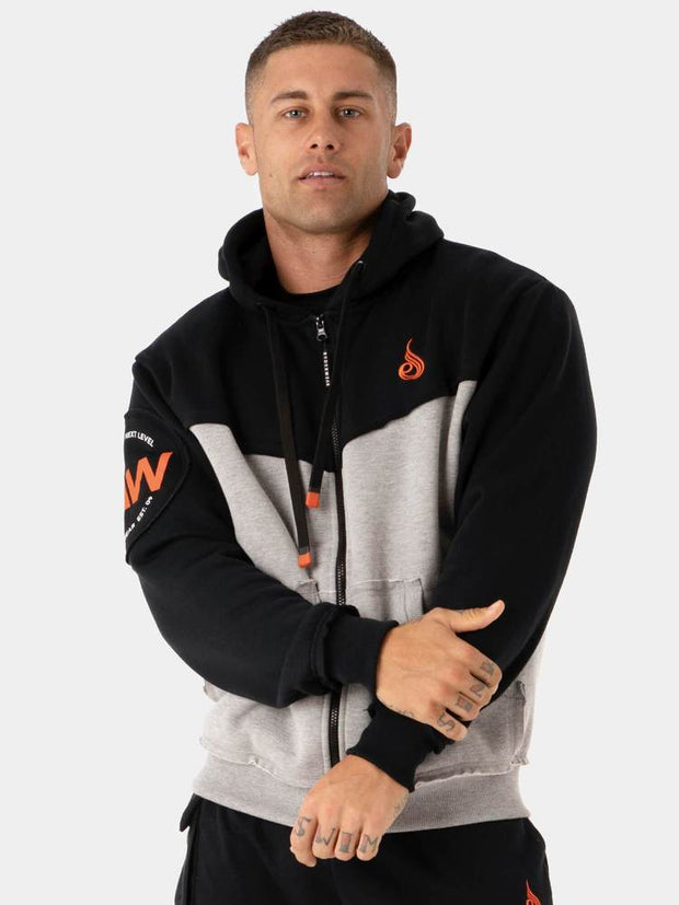 Ryderwear Utility Zip Up Hoodie - Grey
